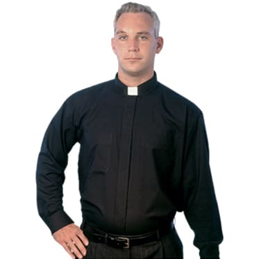 long sleeve tab collar clergy shirt
